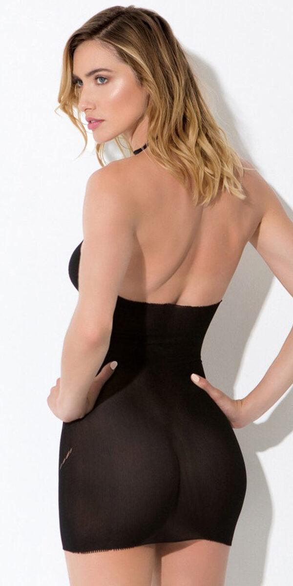 black diamond fishnet pattern chemise sexy women's lingerie