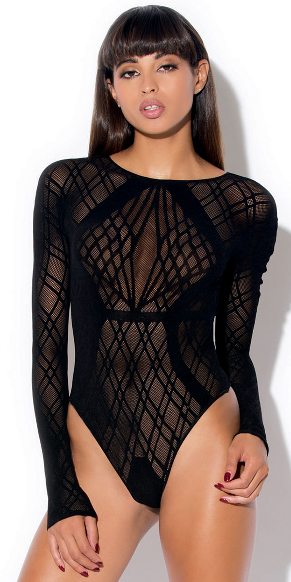 black diamond pattern bodysuit sexy women's hosiery