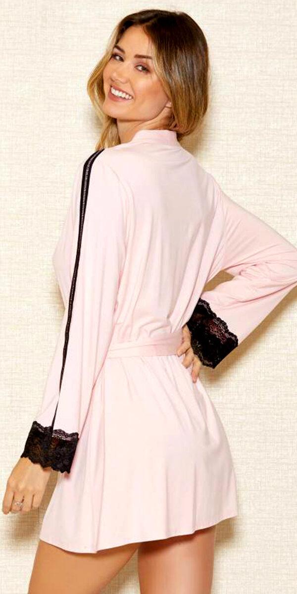 pink modal robe sexy women's loungewear