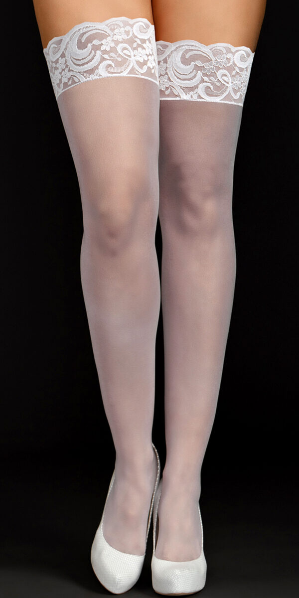 plus size sheer thigh highs with lace top sexy women's hosiery tights curvy