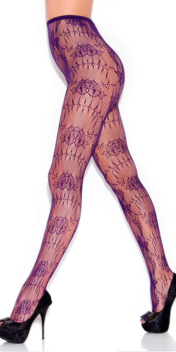 purple vine fishnet pantyhose sexy women's hosiery tights