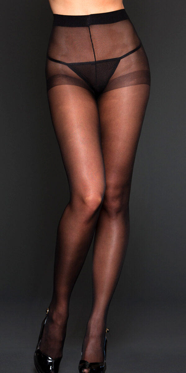 black sheer spandex pantyhose sexy women's hosiery