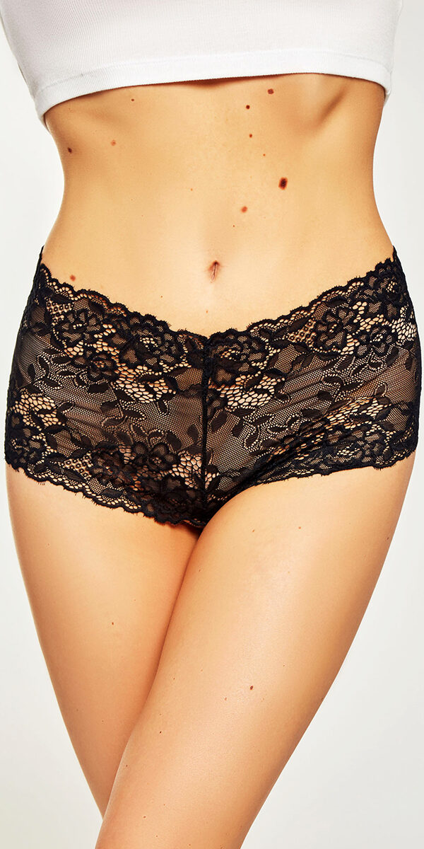lace boyshort with pearl string sexy women's underwear