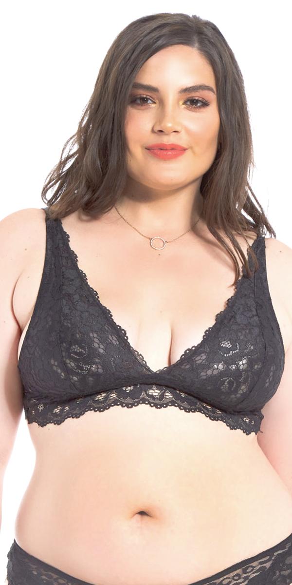 plus size leopard mesh lace bralette sexy women's intimates curvy