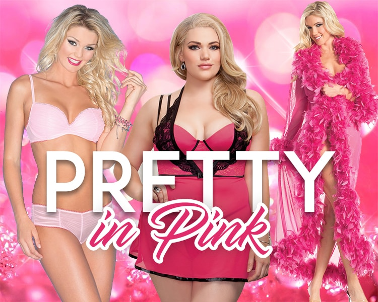 simply delicious pink lingerie banner