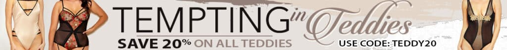 tempting in teddies banner simply delicious