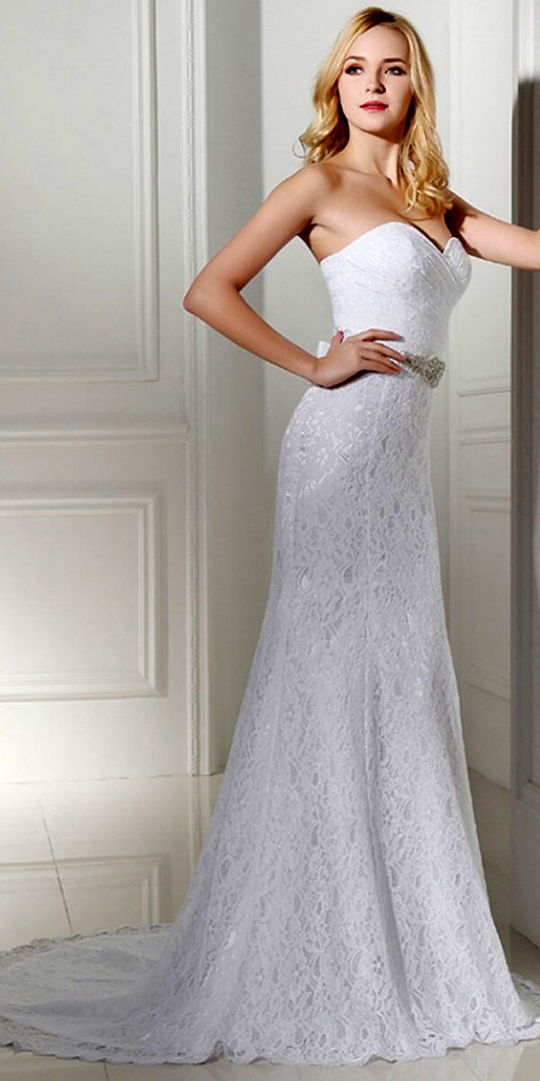 mermaid lace vintage wedding dress sexy women's cheap bridal gown