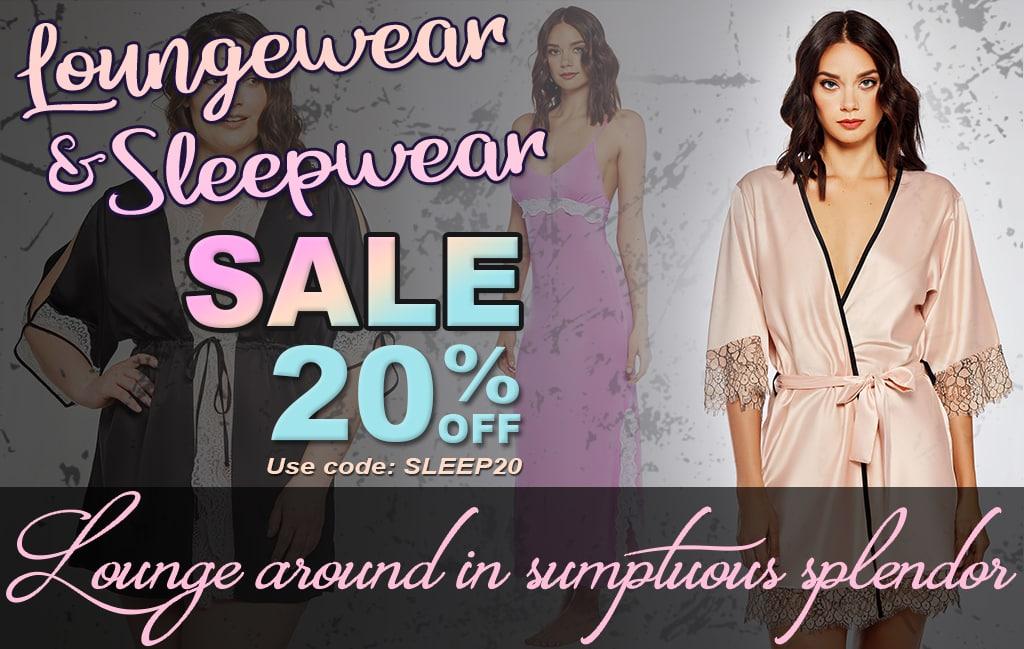 simply delicious loungewear sleepwear sale banner