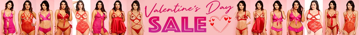 simply delicious valentine's day sale banner long