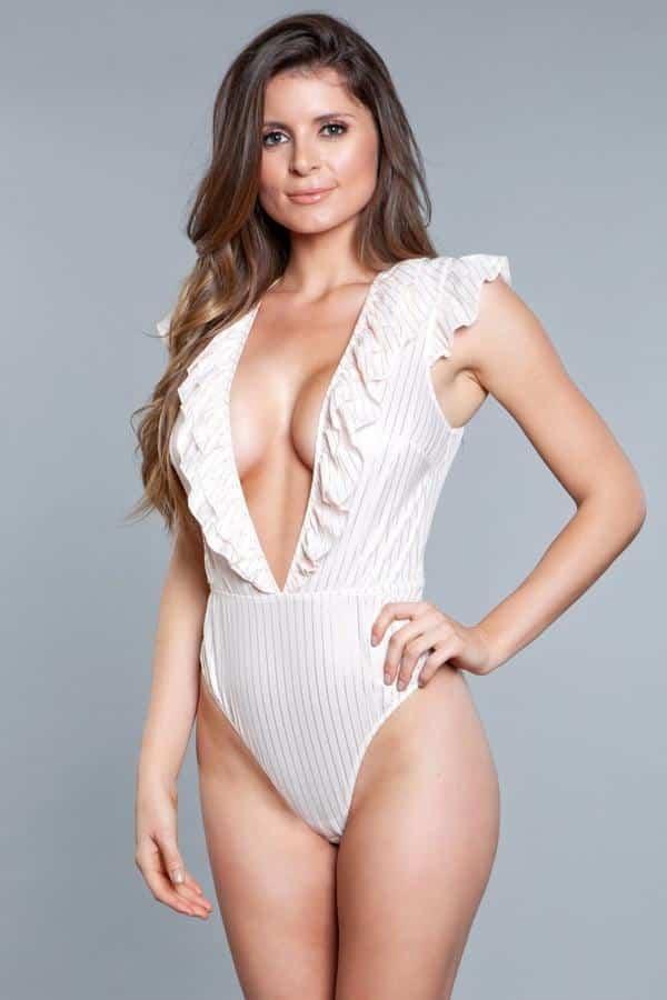 Madeline Mesh Lace Bodysuit Teddy