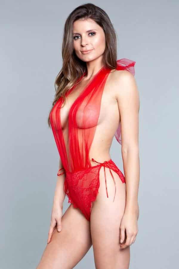 Alessandra Sexy Red Teddy