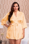 Gold Plus Size Robe