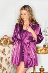 Robe Plus Size Purple
