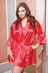 Red Plus Size Robe