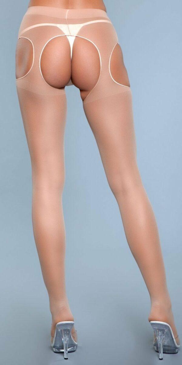 Rare Sight Suspender Pantyhose Nude