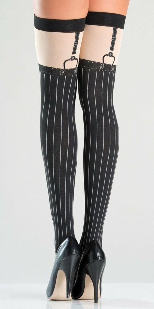 Pinstripe Thigh Highs