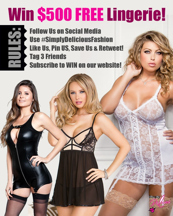 Win $500 in FREE Lingerie at Simply Delicious Fashion